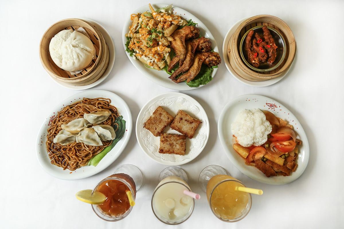 Nourriture asiatique en flat lay
