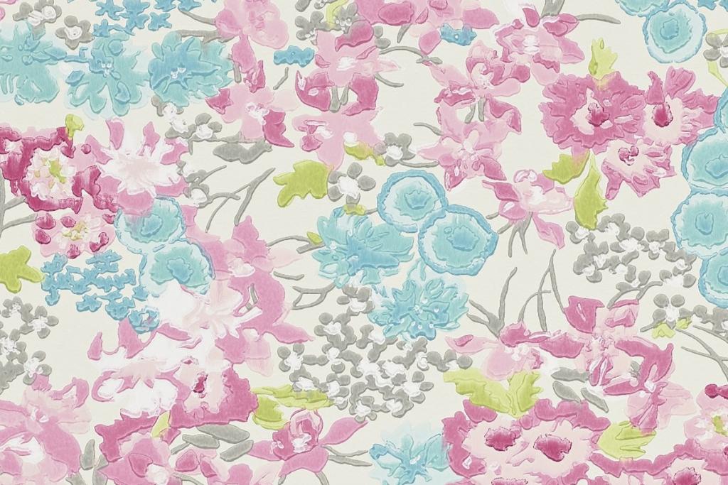 Motif floral multicolor