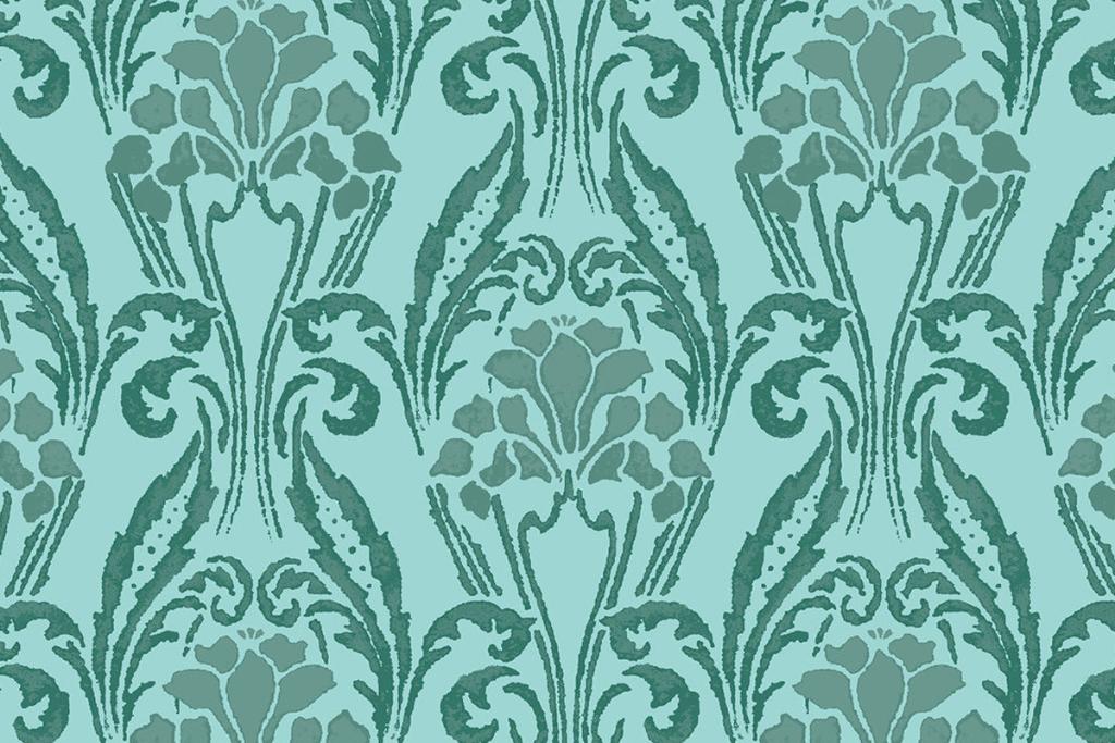 Motif floral vert